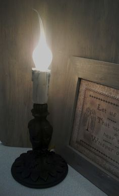 Our Pioneer Homestead: From Junk to Primitive Candle Lamp~