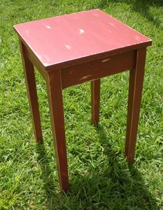 Handmade Painted Wood Side TableCottage Side by AtticJoys1 on Etsy, $60.00