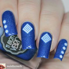 BY #mdollasnails #bluenails #alltheprettynails #blue#nailart #naildesigns #nails #nailstyle #cutenails #beautifulnails #nailideas #nailartideas #nails2inspire