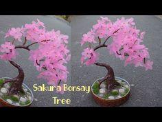 Cara mudah membuat Bunga Sakura dari Plastik Shopping bag ! - YouTube Paper Flowers Craft, Flower Crafts, Diy Flowers, Flower Decorations, Plastic Bottle Decoration, Recycle Plastic Bottles, Cold Porcelain Flowers, Ikebana Flower Arrangement, Branch Decor
