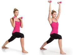 Your Firm-Abs Plan For 40+: 5. Warrior I with Overhead Lift