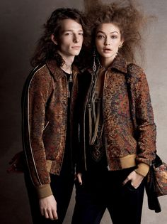 Gigi Hadid and actor Mike Faist in Saint Laurent photographed by Patrick Demarchelier for Vogue, April Gigi Hadid, Bella Hadid, Andre Holland, Lineisy Montero, Vogue Us, Gigi Vogue, Patrick Demarchelier, Dear Evan Hansen, Bright Stars