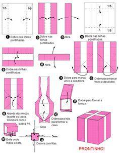 pattern paper origami box - Поиск в Google