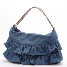 Woman handbag fashion small ladies Denim frilled bag ruffle handbag(I1)