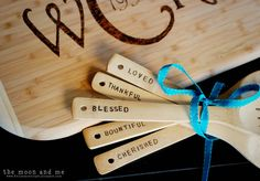 DIY Personalized Cutting Board & Wooden cooking utensils