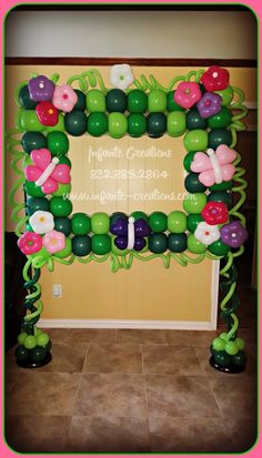 Flowers and Butterflies Balloon Photo Frame #Butterflies #Flowers #Balloons…
