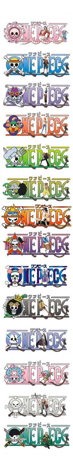 One piece ~ Pirate Skull Symbols -- Boa Hancock, Monkey D. Luffy, Nico Robin, Nami, Sanji, Usopp, Portgas D. Ace, Franky, Bon Clay, Brook, Shanks, Whitebeard, Chopper, and Roronoa Zoro