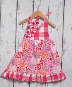 This Pink Daisy Bunches Halter Dress - Toddler & Girls by Beary Basics is perfect! #zulilyfinds