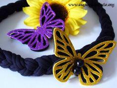 www.unpocodetodo.org - Collar y broche de mariposa - Collares - Trapillo