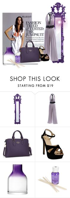 """Purple Jumpsuit"" by ciukinaa ❤ liked on Polyvore featuring Howard Elliott, LSA International and Millefiori"