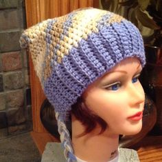 Crochet Adult Elf/ Pixy hat in blue by KatyDidKrafts on Etsy, $28.00