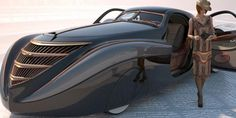 The exotic 1939 Duesenberg Coupe Simone Midnight Ghost. It was built by American car designer Emmet-Armand for French cosmetics mogul Gui De LaRouche. The fate of the car remains a mystery although it was probably destroyed during WWII. Muscle Cars, Weird Cars, Motorcycle Design, Amazing Cars, Awesome, Hot Cars, Custom Cars, Concept Cars, Cars Motorcycles