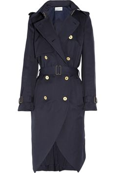 Cotton-gabardine trench coat by Yves Saint Laurent love the cut of front bottom
