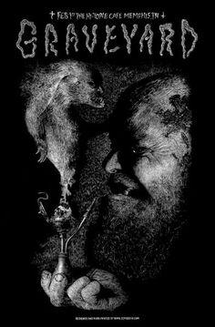 GRAVEYARD Washington DC 2014 poster by Skinner S//N