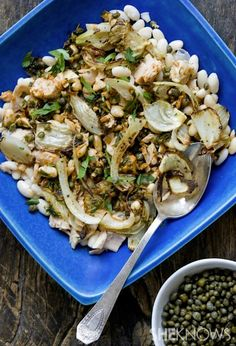 Tuna, white bean and roasted fennel salad
