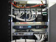Patch Panel. Used to organize wires and mmake troubleshooting easier