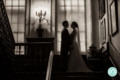 One of the shots from Katy and Steve's wedding last month at @NTCalkeAbbey #silhouette #wedding