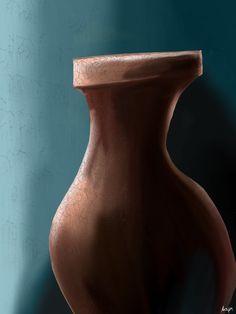 Vase by Mixmax3d.deviantart.com on @DeviantArt #digitalpaint #digitalpainting #vase #mixmax3d