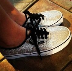 Dark sparkly vans ✓ Sock Shoes cd0fa42f4