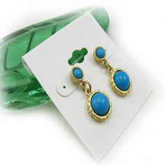Fashion Double Blue Rhinestones Stud Earrings