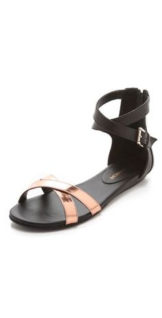 Where were these at the START of Summer? #sandals #shoes #metallic #rebeccaminkoff #shopping #fashion
