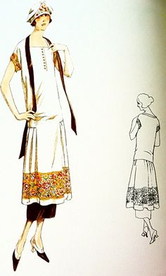 Sewing pattern-Dress. Elegant 1920s style. von ContrapuntPatterns