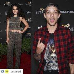 #Repost @justjared with @repostapp ・・・ #VanessaHudgens and #LouisTomlinson stepped out for the #IntrigueVegas opening last night!