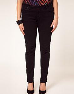 ASOS CURVE Jet Black Skinny Jean #4  $46.40