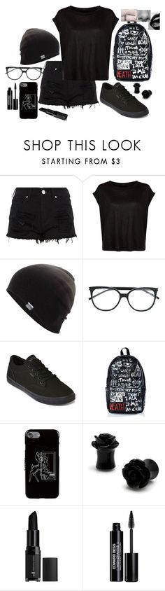 """""""Untitled #163"""" by twocigarettes ❤ liked on Polyvore featuring Converse, Vans, Haculla, Givenchy, e.l.f. and Edward Bess"""