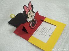 Convite de Aniversário Vermelho Minnie