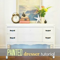 diyshowoff.com - painted dresser tutorial, Maison Blanche furniture paint & lime wax