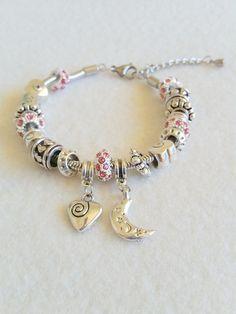 Rhinestone bead European-style bracelet by SpicyMoon on Etsy