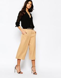 River Island   River Island Culotte With Belt at ASOS