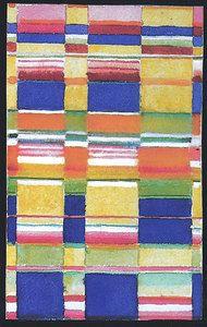 Design for a wall hanging  Bauhaus Dessau, 1925/26  26x16.2 cm  Victoria & Albert Museum, London