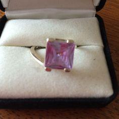 Purple Amethyst Set In Silver Ring
