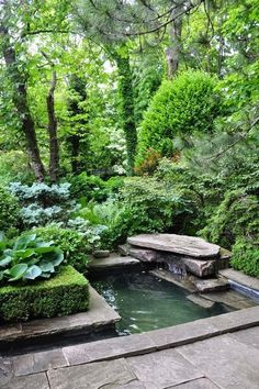 Love the lines of this water feature! #ponds #waterfeature homechanneltv.com