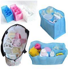 diy large purse organizer   Baby Diaper Bag Organizer – White $3.96 shipped!