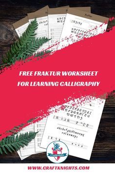 Download this free calligraphy worksheet and learn how to write a fraktur. #calligraphy #handlettering #lettering #worksheet