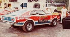 Vintage Drag Racing - Pro Stock - Ford Maverick - Mr Quick Funny Car Drag Racing, Nhra Drag Racing, Funny Cars, Bob Glidden, Old Hot Rods, Classic Race Cars, Ford Maverick, Old Race Cars, Vintage Race Car