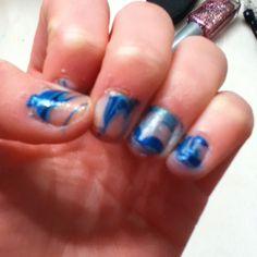 Water+nail polish= amazing!!!