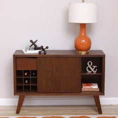 Rosalyn Tobacco Finish Side Board Table | Overstock.com Shopping - Big Discounts on Buffets