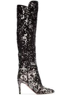 89c6e08e595 Dolce & Gabbana Gaucho 40 Sequined Cowboy Boots | Glamorous Fashion ...