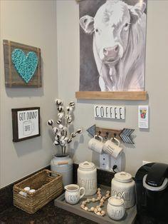 Coffee Bar Inspiration String Art Cow Painting Rae Dunn