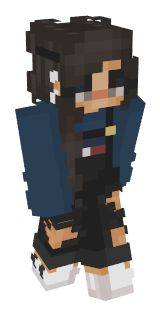 Check out our list of the best EGirl Minecraft skins. New Minecraft Skins, Minecraft Skins Female, Minecraft Skins Aesthetic, Hama Beads Minecraft, How To Play Minecraft, Minecraft Stuff, Minecraft Ideas, Minecraft Buildings, Perler Beads