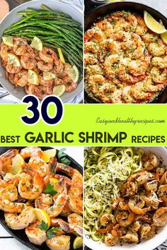 30 Garlic Shrimp Dishes That Are Worth Trying - Garnelen-Rezepte Spicy Garlic Shrimp, Grilled Shrimp Recipes, Seafood Recipes, Chicken Recipes, Easter Dinner Recipes, Lunch Recipes, Healthy Recipes, Drink Recipes, Easy Recipes