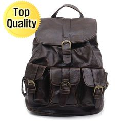 43847c51e79 I love this dark brown leather backpack Brown Leather Backpack, Dark Brown  Leather, School