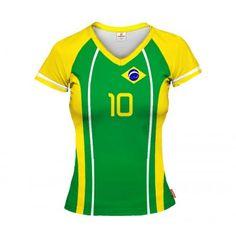 BRAZYLIA 2014/15 Koszulka Siatkarska Damska z Własnym Nadrukiem
