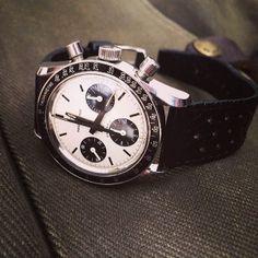 My ultra rare Universal Geneve Compax Nina Rindt #luxurywatch #Universal-Geneve Universal Geneve Swiss Watchmakers watches #horlogerie @calibrelondon