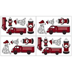 @Overstock - Sweet Jojo Designs removable wall decals add a fun and colorful touch to any bedroom. These wall decals make great gifts and are sure to enhance your room decor and create an interesting and stimulating environment.http://www.overstock.com/Baby/Sweet-JoJo-Designs-Frankies-Firetruck-Wall-Decal-Stickers-Set-of-4/7599501/product.html?CID=214117 $21.99