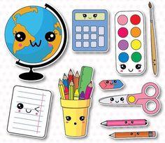 off, school supplies clip art, back to school clipart, kawaii school Cute Kawaii Drawings, Kawaii Doodles, Griffonnages Kawaii, Back To School Clipart, Cute Fonts, Dibujos Cute, Cute Clipart, Vector Clipart, Doodle Art